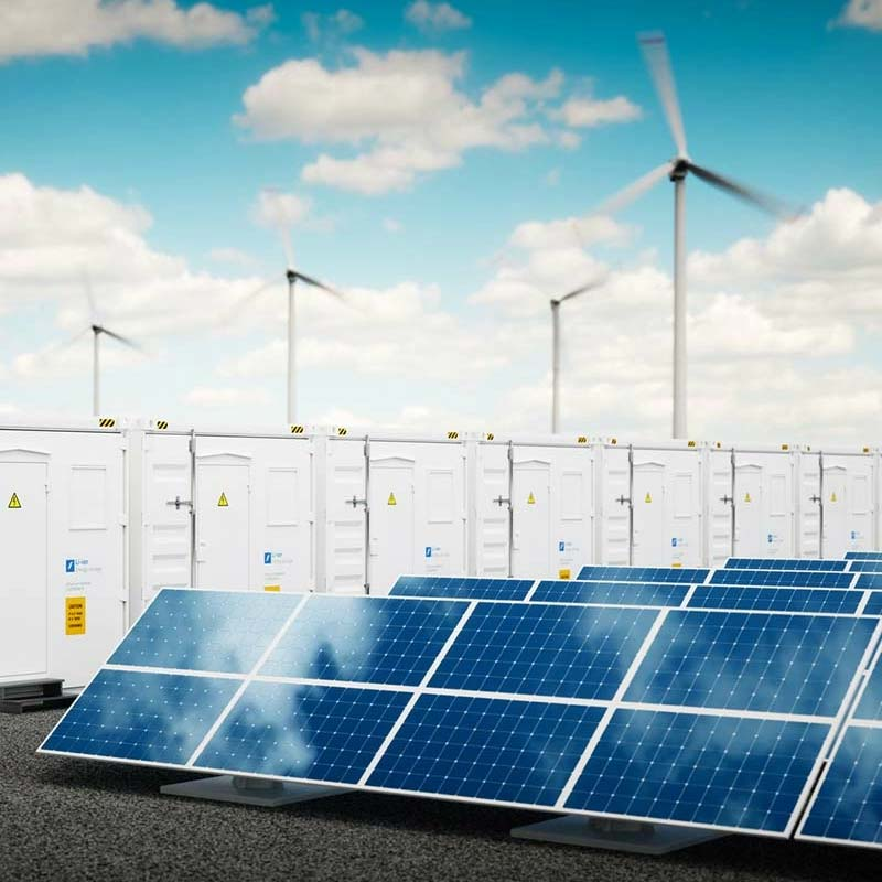 Solar Panels, Windmills and storage units